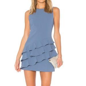 Alice + Olivia blue ruffle dress
